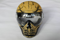 free shipping paintball & airsoft & boat mask Anti-fog double lenses  Mask yellow