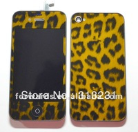 Leopard kit(version 4)for iphone 4s ,for iPhone 4s housing kit,high quality,with logo,free shipping