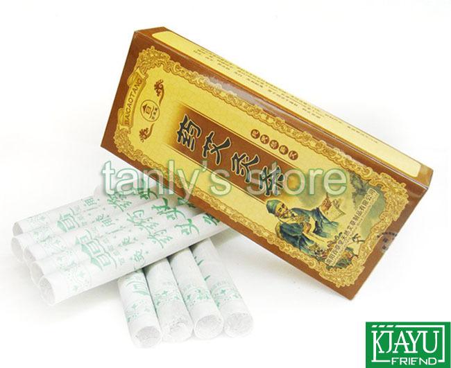 Nan Yang Bai cai tang yao moxa roll good quality moxibustion 18x200mm 10pieces/pack 2packs/lot(China (Mainland))