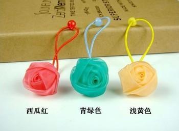 Freeshipping! baby children silk ross flower elastic hairbands / hairties/ head dress hair accessories / headband