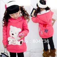 2012 New Free shipping! New 4pcs/lot fashion cute children clothing, girls long sleeve tops, hoodies, sweatshirts, kids clothes
