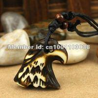 12 pcs fashion jewelry Hawk yak bone pendant necklace