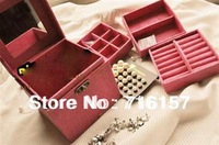 Free shipping 2012 hot sale jewellery box case multideck excellent Storage Boxes & Bins for Xmas gift GD05