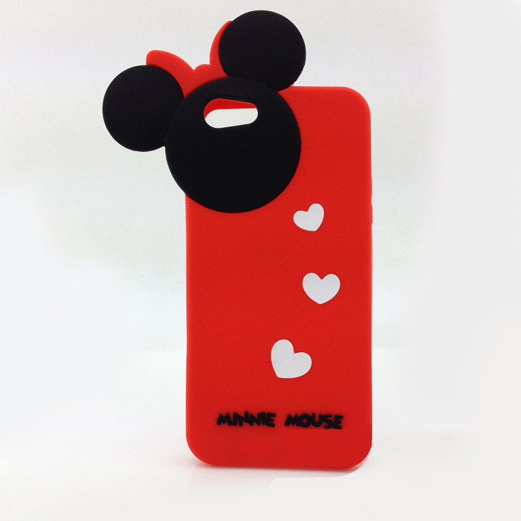 Free shipping!! small MOQ mouse ear design cute silicone phone case for iphone 5(China (Mainland))