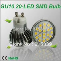 Hot Wholesale 20-led SMD Led Bub, 20ps SMD5050 Led Spotlight, Metal Body, Glass Cover More safe, 12pcs/Lot Free Shipping