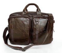 FREE SHIPPING First layer of cowhide male multifunctional briefcase commercial laptop messenger bag laptop bag