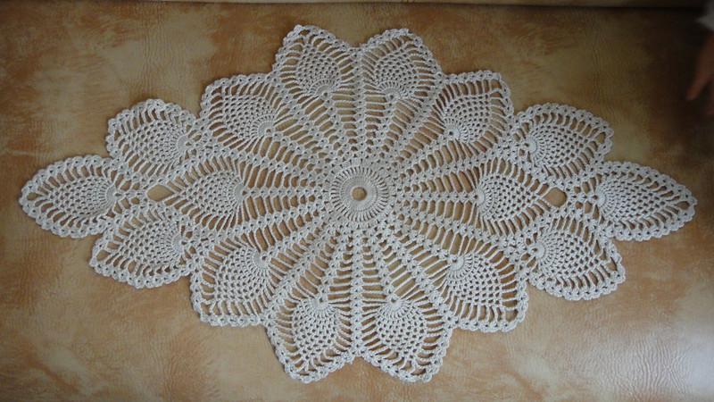 main nappe de runner de Crochet table cm 40  drapeau Table x tablecloth vs Table 75 ivoire chemin