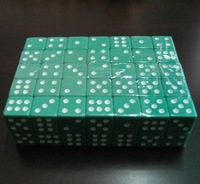 High quality 16mm 6 Sided Game Dice for Poker Dice for Card Games.& blue,light green,dark green