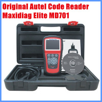 100% Orignal Autel Code Reader Maxidiag Elite MD701 for 4 system Diagnostic Tool Update Internet Free Shipping