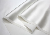 weight 16m/m  width 114cm silk  charmeuse satin fabric  nature white Free Shipping