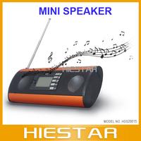 LCD display Portable mini speaker K03 &FM Radio, for ipod,MP3 Play,SD,Udisk,PSP