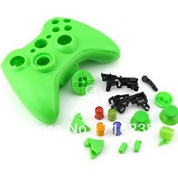 Hot sales!New WIRELESS CONTROLLER REPLACEMENT SHELL green color for XBOX 360 controller free shipping 901744-SW-0005