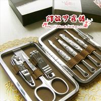 Japan beauty set finger plier finger cut nail clipper 7 set leather set
