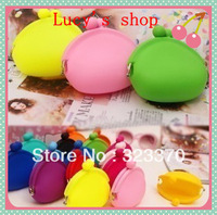 AAA quality Price  Environmental 10pcs Mixed Color Japanese Neon Silicone Purse/Wallet ,Silicone Coin Purse,Silicone Coin Bag