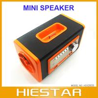 Mini For iPhone Docking Speaker Soundbox Dock Mobile Speaker For iPod Portable Speaker SD/USB/FM Freeshipping
