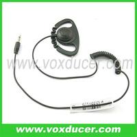 D Shape Soft Rubber Ear Hook Earpiece Listen Only with 3.5mm plug