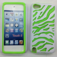 New Arrival 2  in 1  Zebra pattern hybrid case for Apple iPod Touch 5 P-iPODTCH5HC007