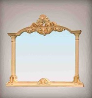 antique italian furniture - solid wood golden foil leaf gilding mirror   Free shipping