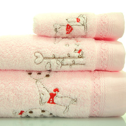 Free Shipping!! 3pcs/Set 100% Cotton Towel Set(China (Mainland))