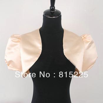 Elegant Custom Made Wraps Jacket   Satin  Stylish Wedding Accessories Decoration Short Sleeves  Ruffle Charming Stunning