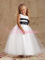 Free Shipping Lace Flower Girl Dresses for Weddings Floor Length