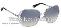 2012 New brand In original box Magnolia Sunglasses  face frame Silver grey / gold brown for women's