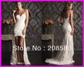 2013 New Designers' Short Front Long Back Lace Mermaid Wedding Gowns Bridal Dresses W1289