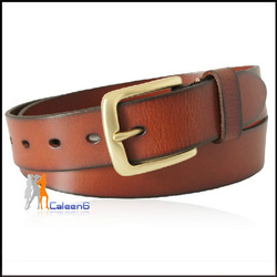 Valentine Gift Premium Fashion Stylish Cowhide Belt Unisex Black Dark-brown And Light-brown High Quality New Arrived BD302(China (Mainland))