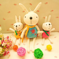 Plush doll dolls rabbit pendant with suction cup car accessories wedding gift