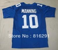 New Season New style American football Jersey ELITE 10 Manning Eli #10 blue color home jerseys