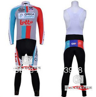 Free Shipping!! New Winter thermal fleece cycling jersey+BIB pants bike sets clothing for 2013 LOTTO  team