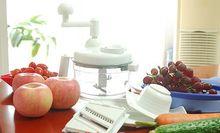Free Shipping 1Set Kitchen Tools MANUAL HAND VEGETABLE CHOPPER SLICER JULIENNE SHREDDER 80009(China (Mainland))
