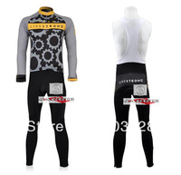 Free Shipping!! New Winter thermal fleece cycling jersey+BIB pants bike sets clothing for 2012  liverstrong  team