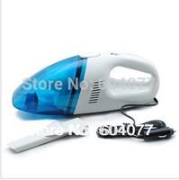Retail 60W Mini 12V High-Power Handheld Portable Car Vacuum Cleaner Blue+White Color
