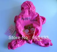 Cute Pet Dog Puppy apparel cloth Winter warm red bear Hoodie Coat XS S M L size
