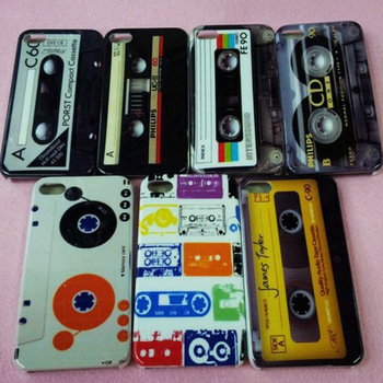 Restore Video CD Cassette Design case for iphone 4s Tape Pattern Shell hard plastic back cover for iphone 4 free ship10 pcs/lot