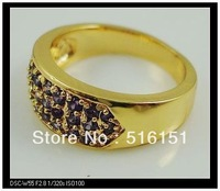 Free Shipping Wholesale and Retail Superb Alexandrite Rings in 14 Kt Yellow Gilding #8