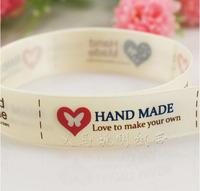 Free shipping ivory ribbon 16mm printed ribbon 100% polyester satin ribbon 100 yards / roll wholesale