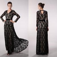 2012beautifly star cutout vintage lace sexy V-neck banquet evening dress ball formal dress