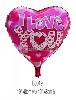 45cm Love aluminum balloon valentine balloon  wedding decoration  100pcs per lot