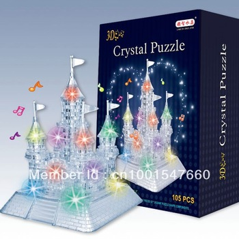 sales promotion: 3D Puzzle Crystal Decoration castle Puzzle IQ Gadget Hobby Toy Gift
