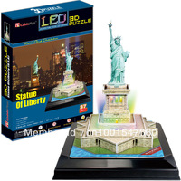 88sqm 3d puzzle educational toys - led lighting the Statue of Liberty