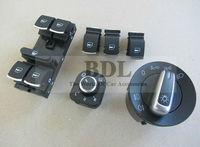 OEM Chrome Auto Headlight Switch+Rearview Mirror Switch+Window Swtich For VW CC TIGUAN GOLF JETTA MK5 MK6 Passat B6 B7
