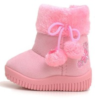 Snow Boots Children Winter Shoes Decorated With Embroidery Fit For 1-4 yrs Kids 2012 New Style, free drop shipping 1 pair