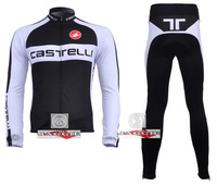 Free shipping! CASTELLI 2011 #3 team long sleeve autumn cycling wear clothes bicycle bike riding cycling jerseys pants set