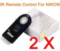 2 pcs/Lot IR Remote Control For NIKON D90 D80 D70S D7000 D60 D5000 D5100 D50 D40 D40X ML-L3