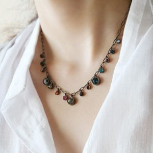 1 PCS free shipping 2015 fashion Gypsy Princess retro Rhinestone Bohemia  Necklace for women D0013