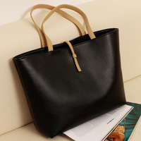 women's leather tote bag with one pouch-free shiping