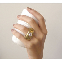 4pcs/lot white Finger cup gold white Elegant Crystal Diamond 2 Carat Ring Ceramic Cup Gift For Lovers Free Shipping