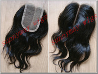 "Sunnymay Natural Wave Peruvian Custom Virgin Hair Closure (5""x 5"") In Stock"
